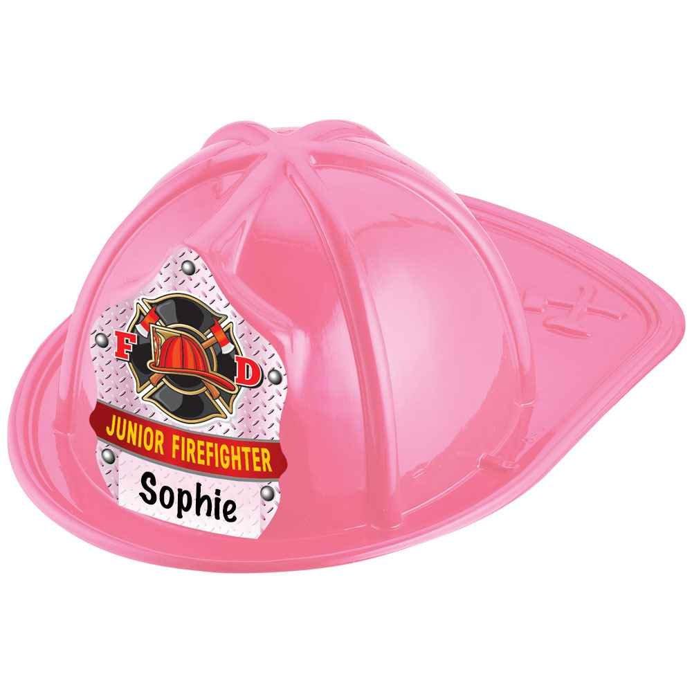 Write In Junior Firefighter Pink Hat