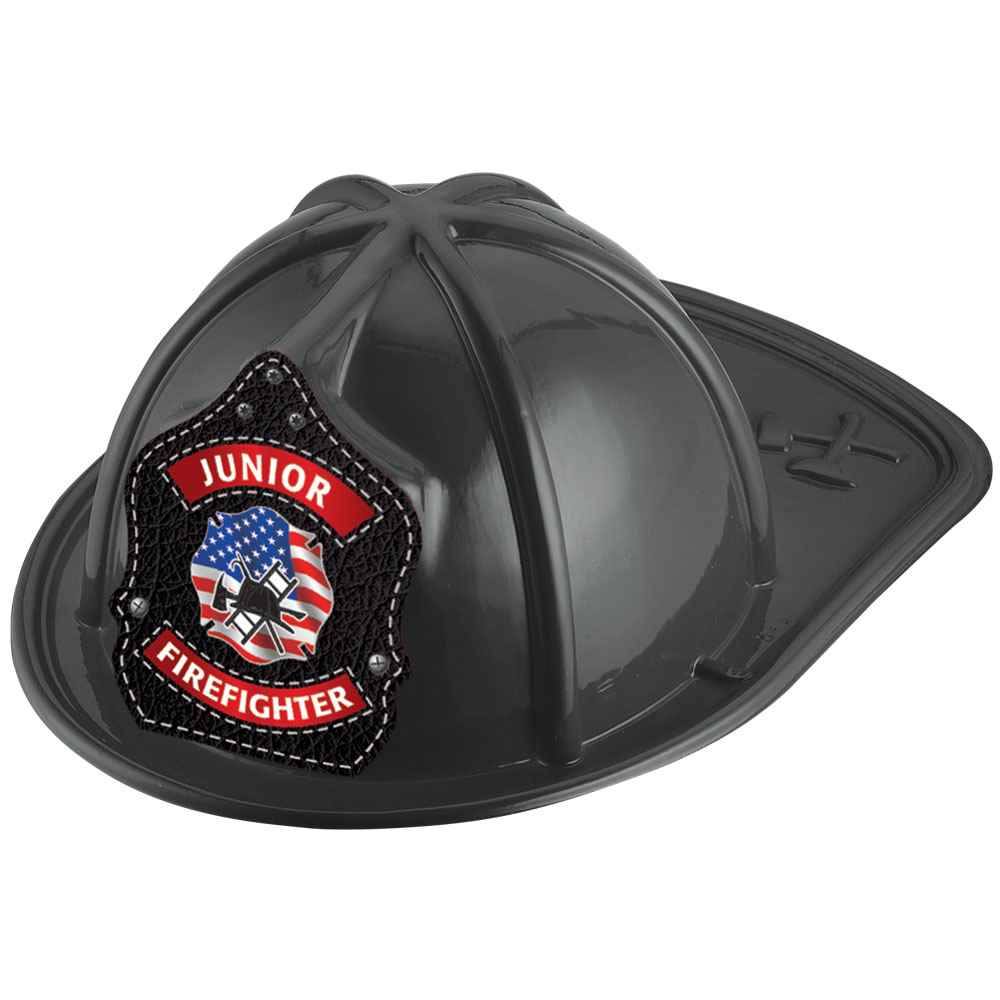 Junior Firefighter Black Hat