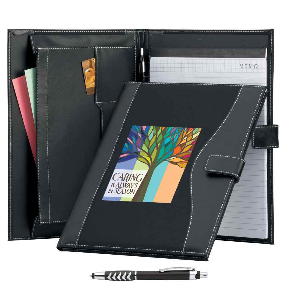 Caring Is Always In Season Leatherette Portfolio & Stylus Pen in Holiday Sleeve