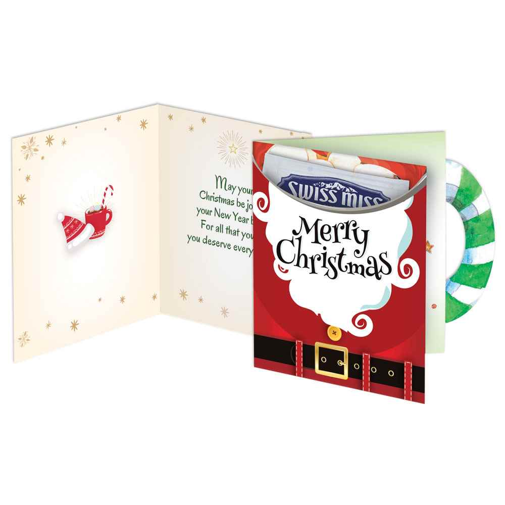 Merry Christmas Greeting Card With Hot Chocolate Positive Promotions