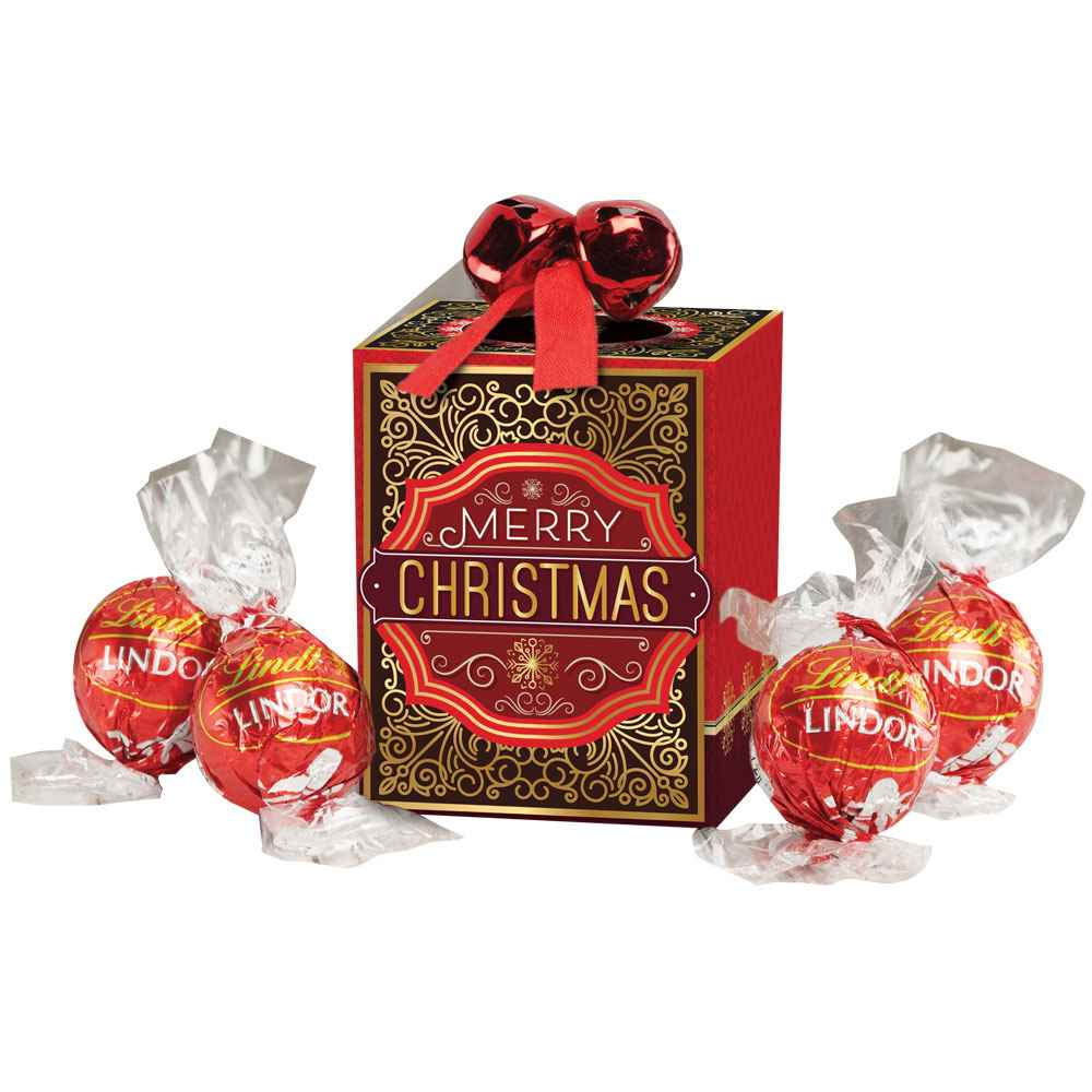 jingle bells merry christmas gift box with lindt chocolate truffles