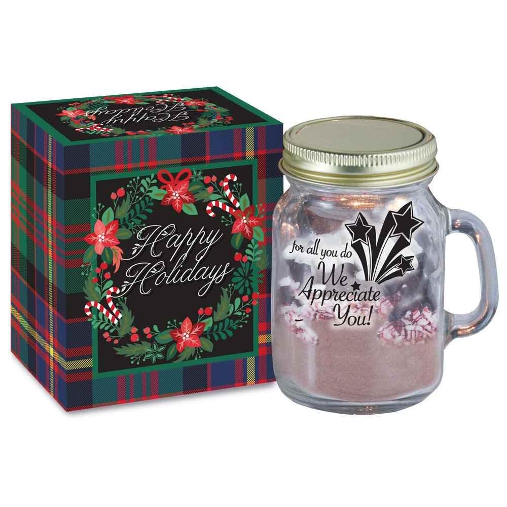 for all you do we appreciate you mini mason jar mug hot cocoa kit