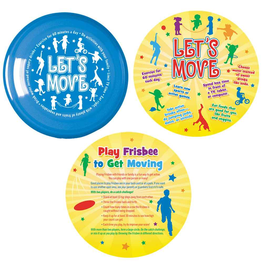 Let's Move! Flyer Disc & Educational Card