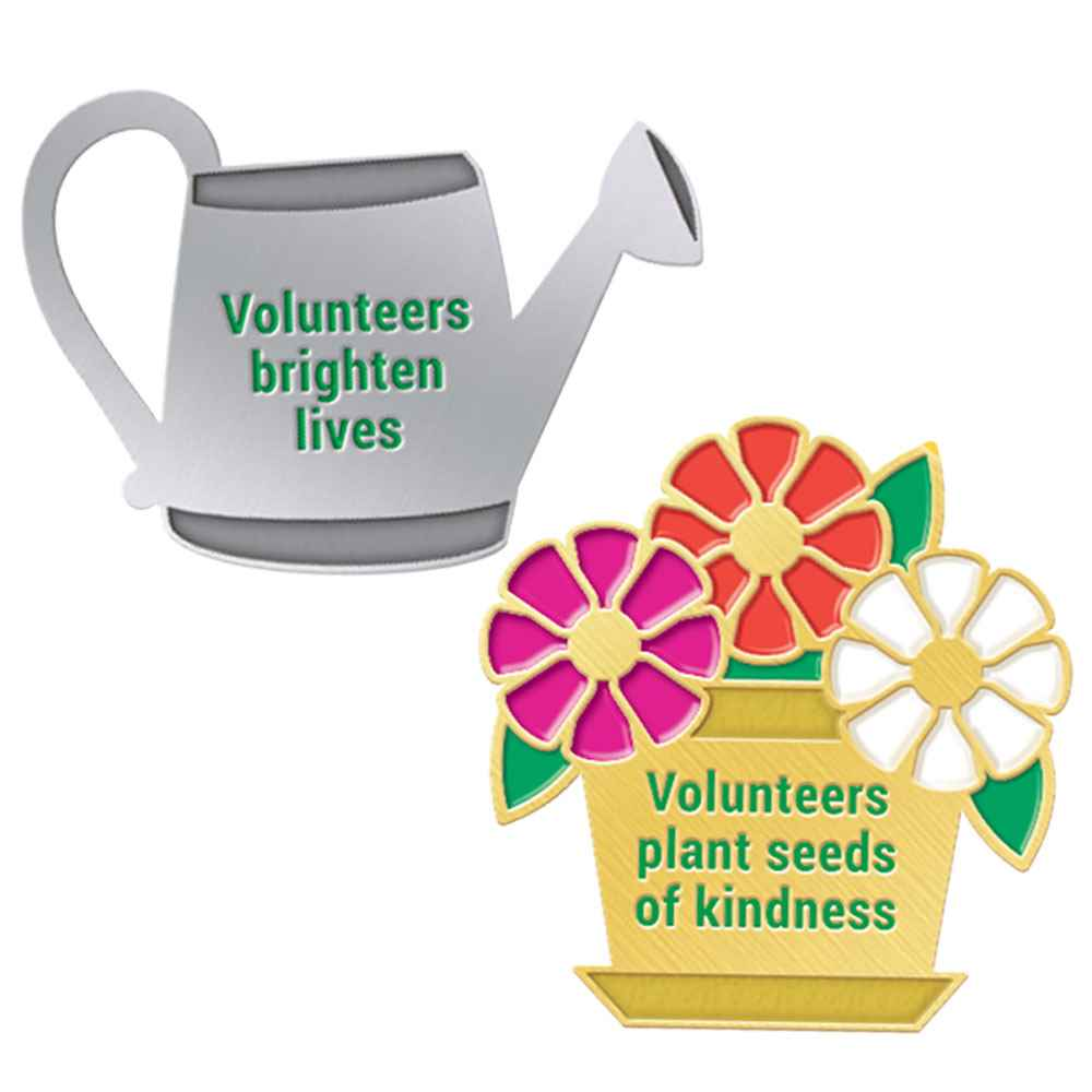 Volunteers Gardening 2-Piece Lapel Pin Set