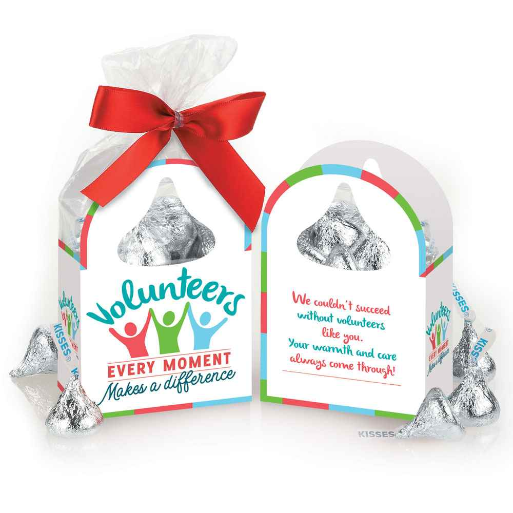 Volunteers: Every Moment Makes A Difference Hershey's Kisses® Paper Tote