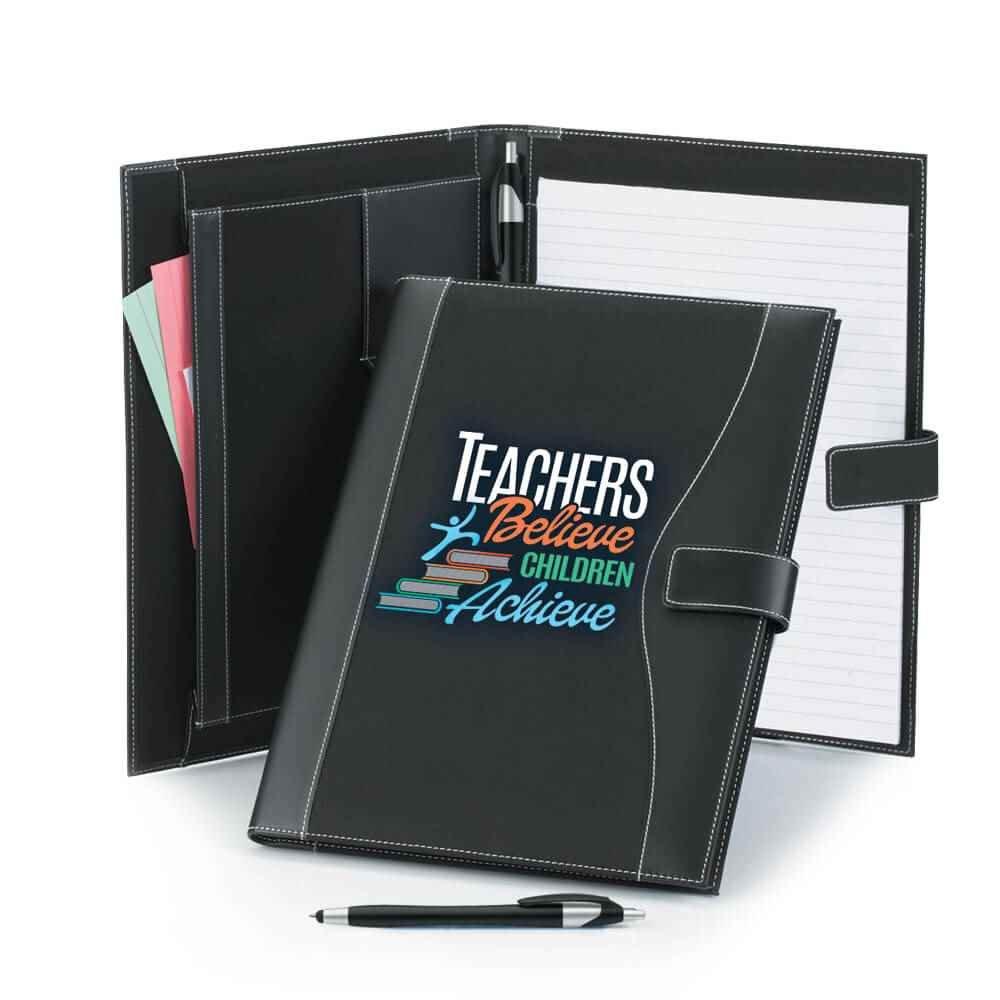 Teachers Believe, Children Achieve Leatherette Portfolio & Stylus Pen