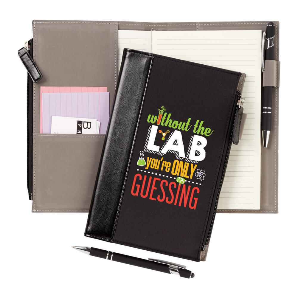 Without The Lab You're Only Guessing Leatherette Pocket Journal & Stylus Pen