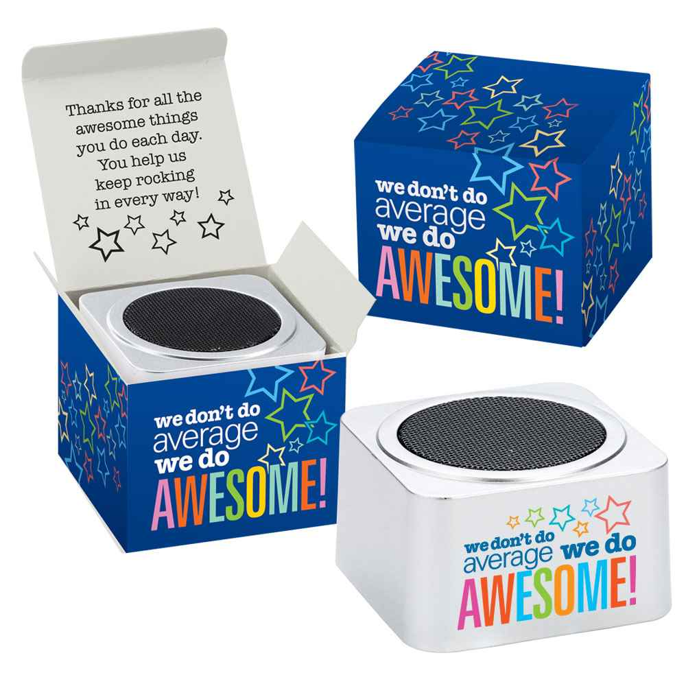 We Don't Do Average, We Do Awesome! Bluetooth® Speaker In Box
