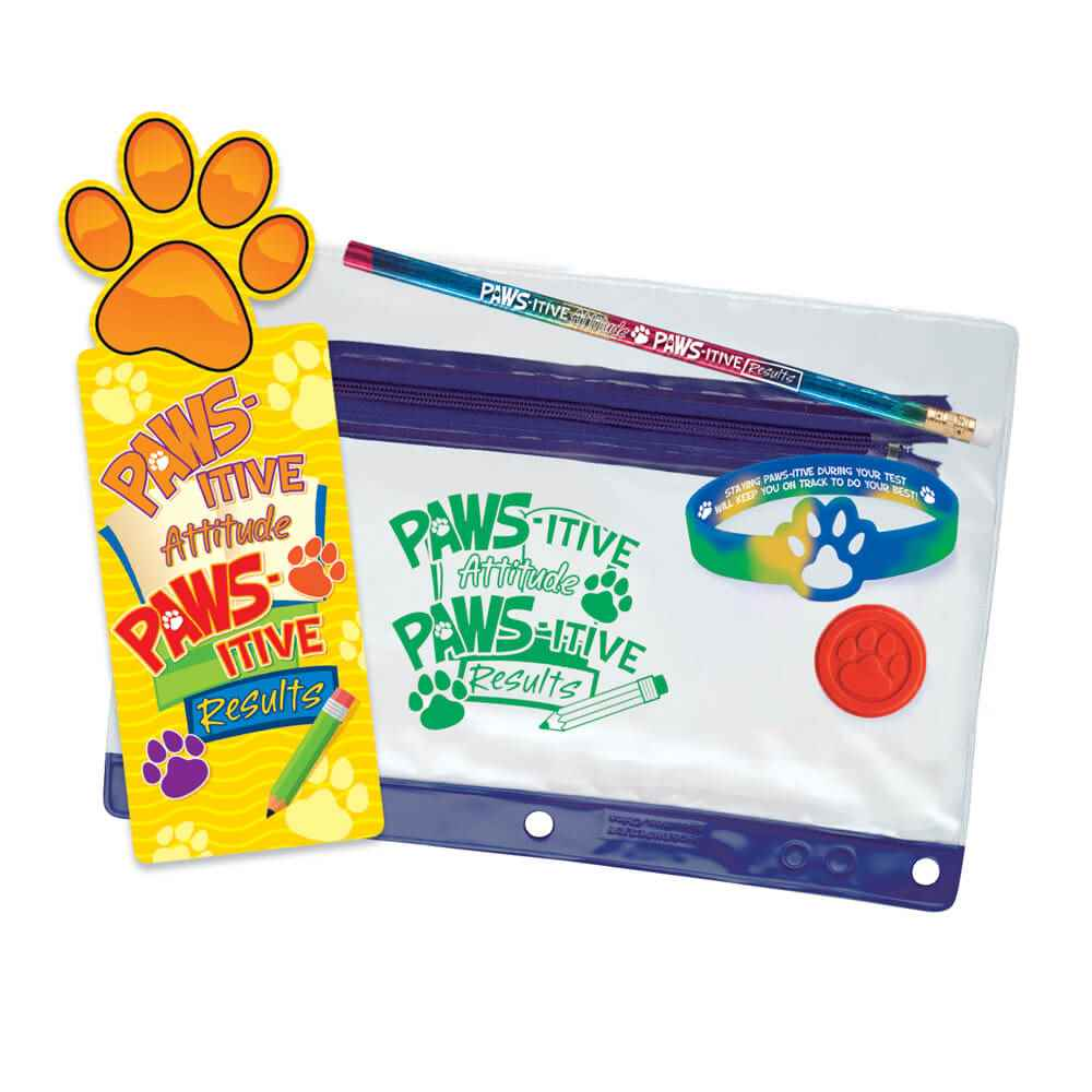 PAWS-itive Attitude, PAWS-itive Results Test Prep Pouch
