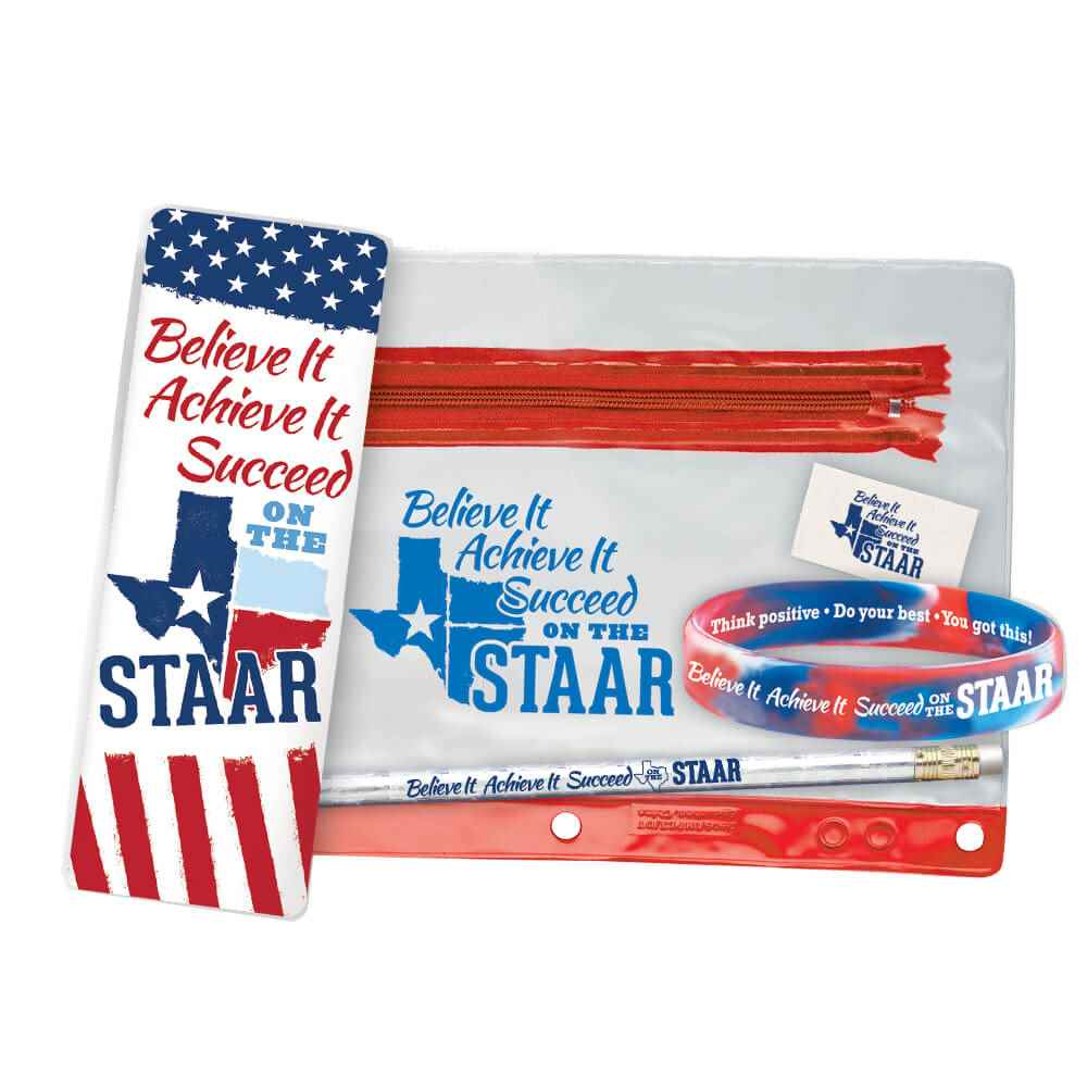 Believe It, Achieve It, Succeed On The STAAR Test Prep Pencil Pouch