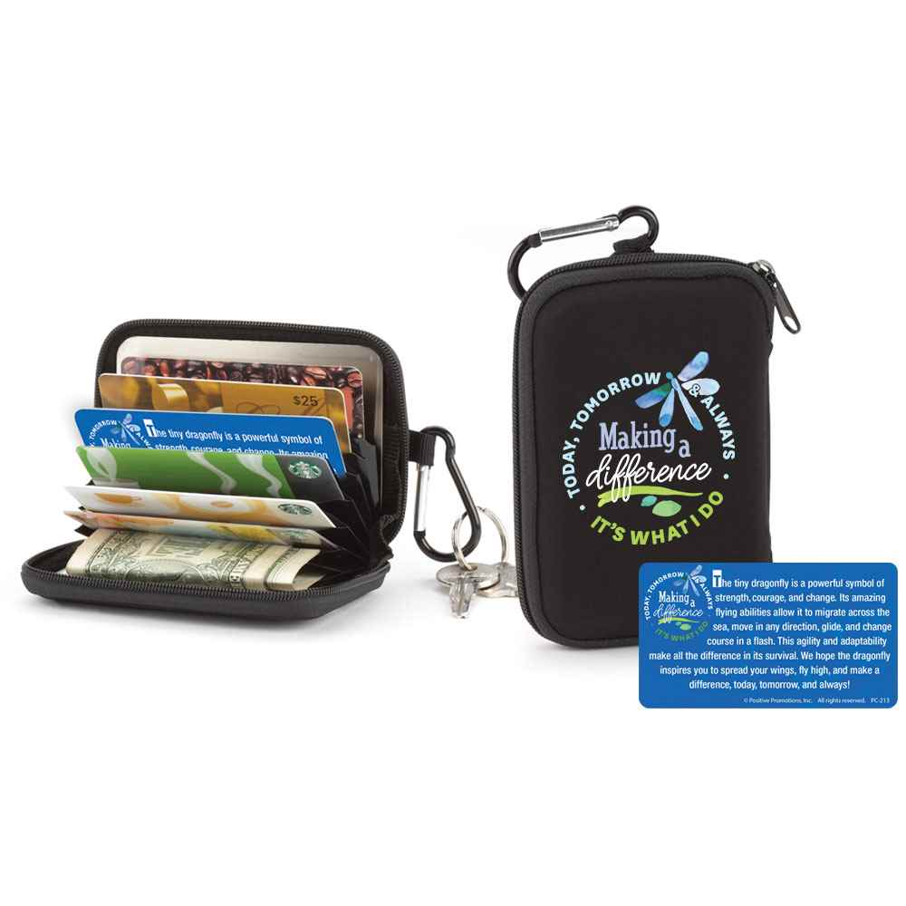 Making A Difference Today, Tomorrow & Always, It's What I Do Identity Guard Wallet With Carabiner