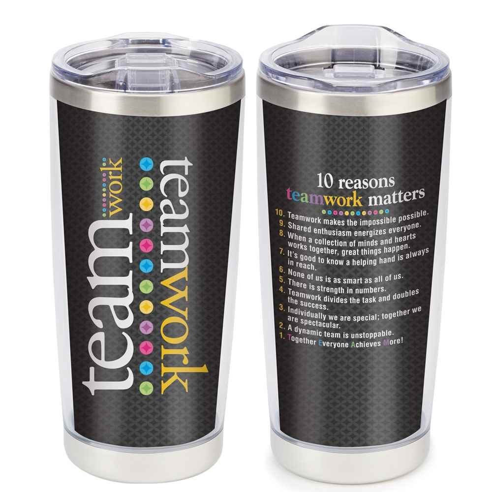 Teamwork Full-Color Insulated Tumbler 20-Oz.