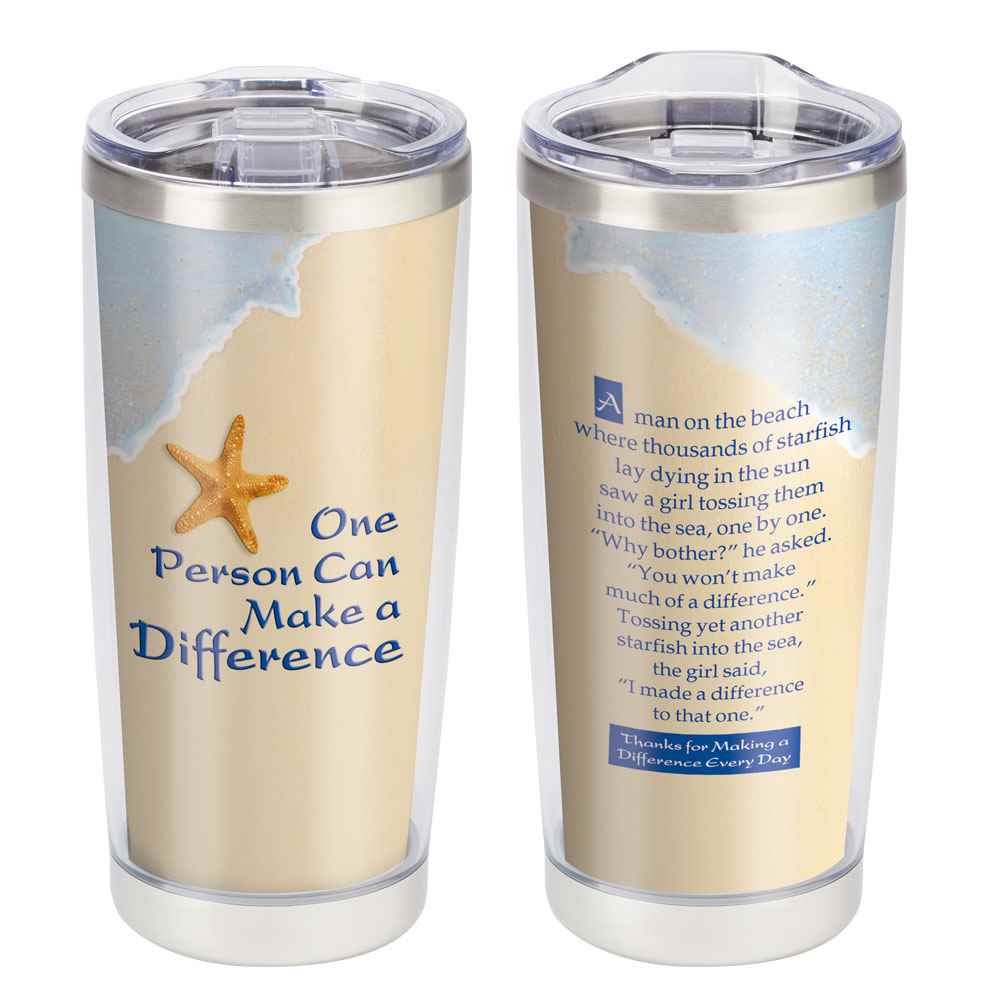 One Person Can Make A Difference Full-Color Insulated Tumbler 20-Oz.