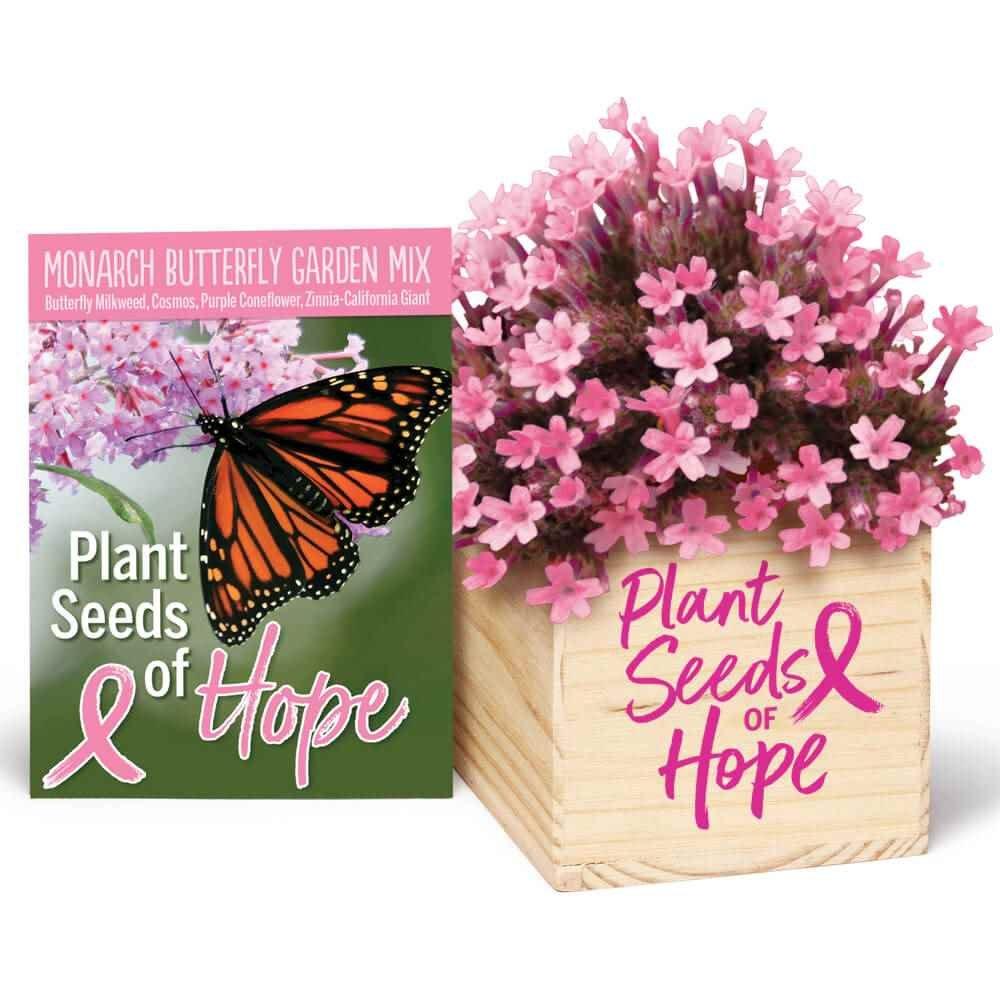 Plant Seeds Of Hope Wooden Flowerpot Cube