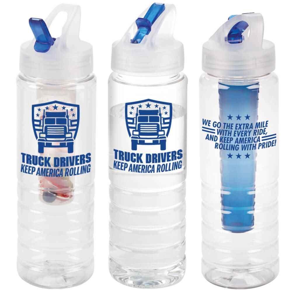 Truck Drivers Keep America Rolling 3-In-1 Essential Water Bottle 26-Oz.