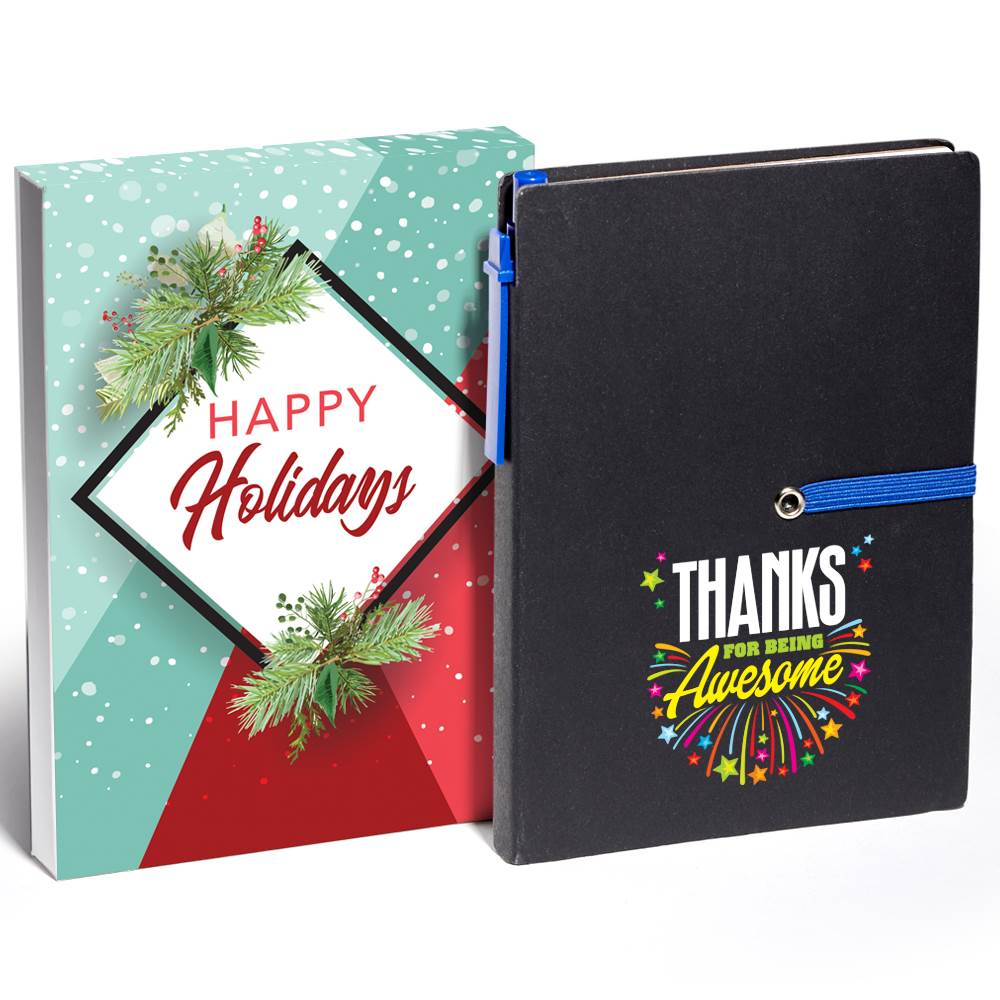 Thanks For Being Awesome Jotter with Sticky Notes & Pen Gift Set in Holiday Gift Box