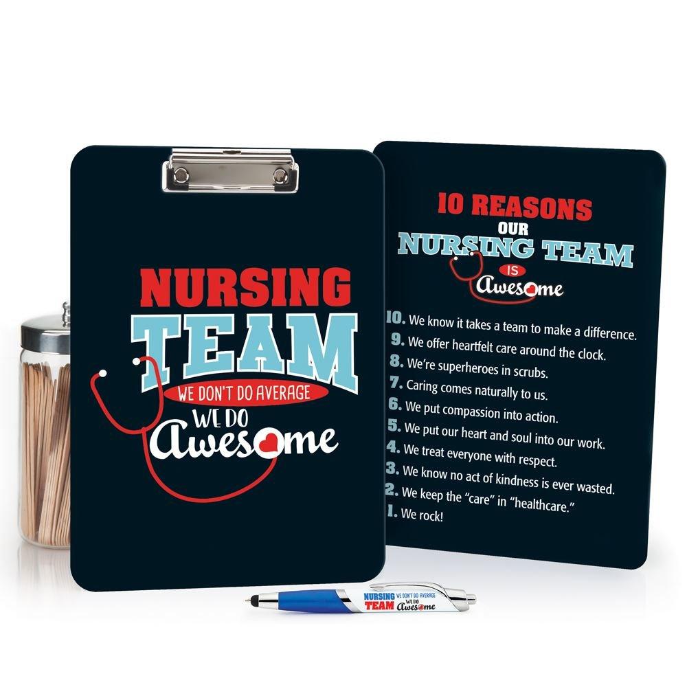 Nursing Team We Don't Do Average We Do Awesome Clipboard & Pen Gift Set