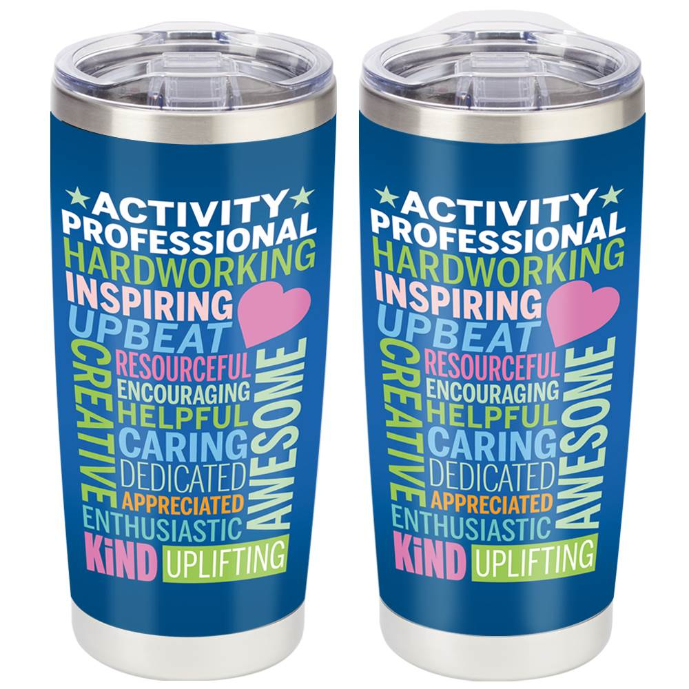 Activity Professionals Word Cloud Full-Color Insulated Tumbler 20-Oz.