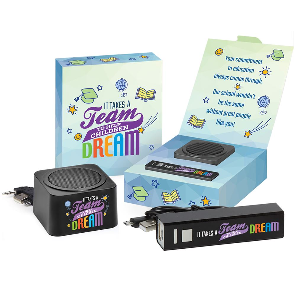 It Takes A Team To Help Children Dream Bluetooth® Speaker & Metal Power Bank Combo