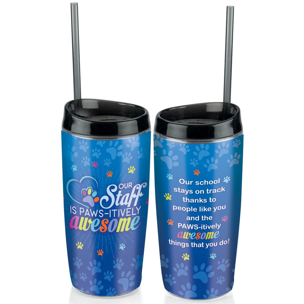 Our Staff Is PAWS-itively Awesome Full-Color Insulated Tumbler 16-Oz.