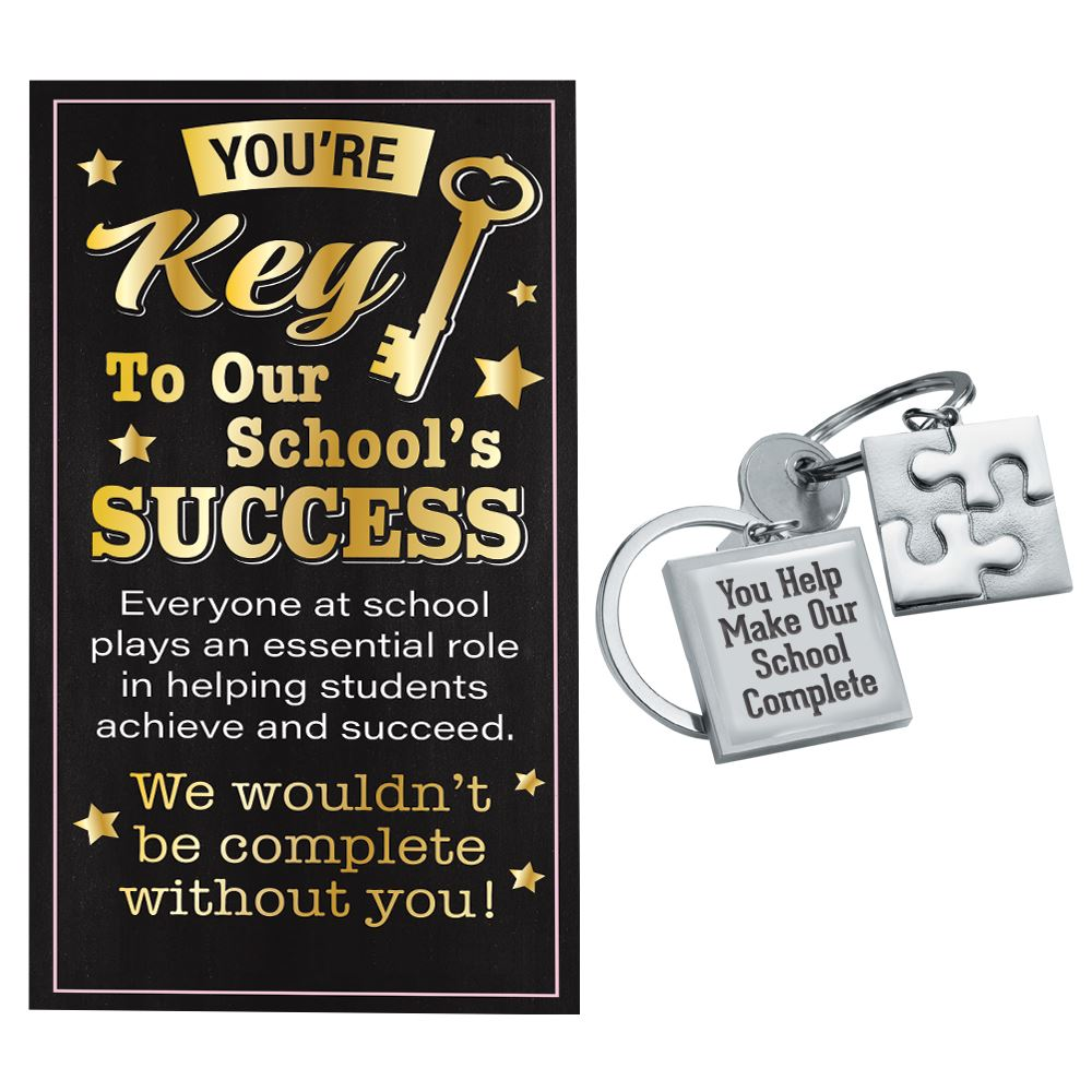 Puzzle Key Tag With Keepsake Card