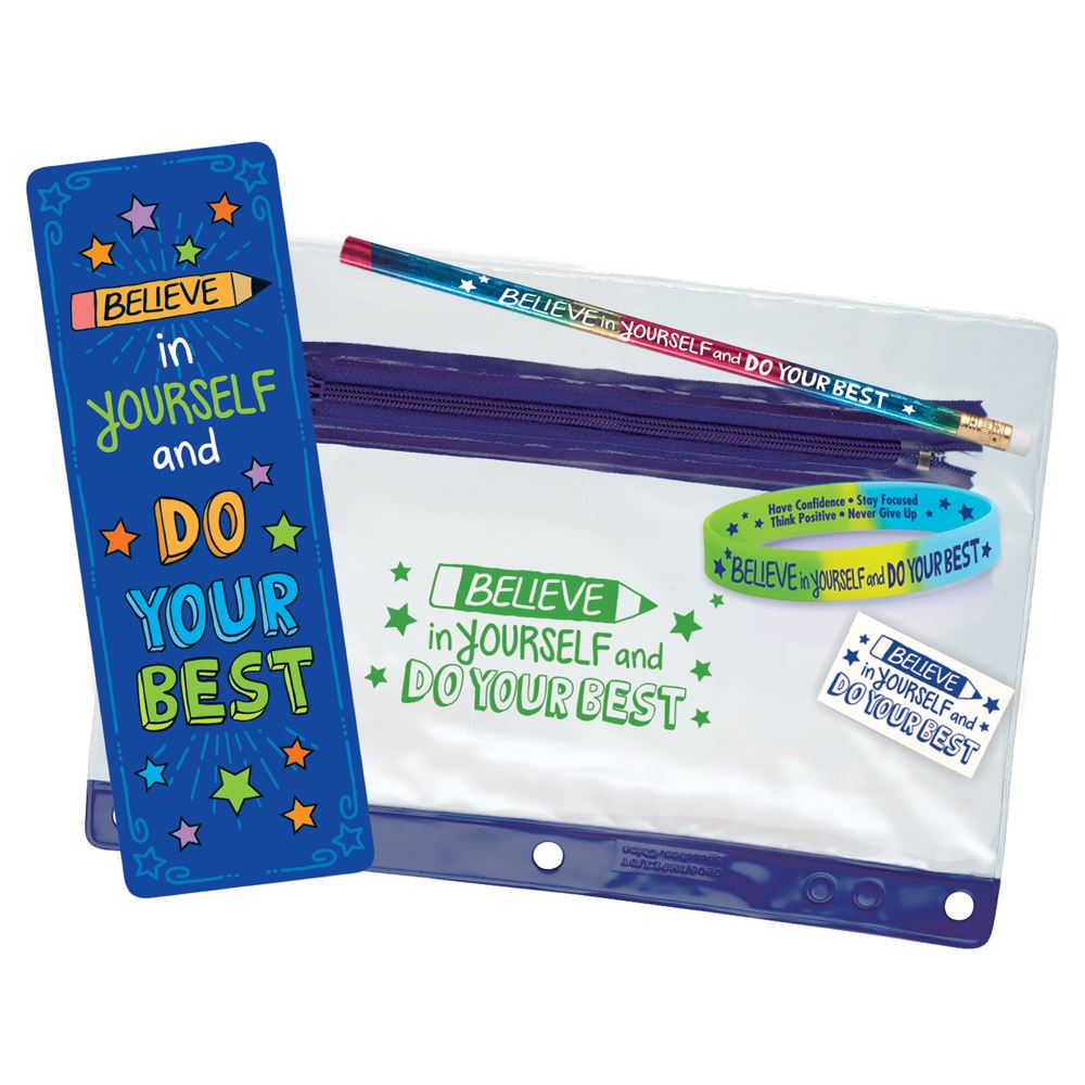 Believe In Yourself And Do Your Best  Test Taking Pouch