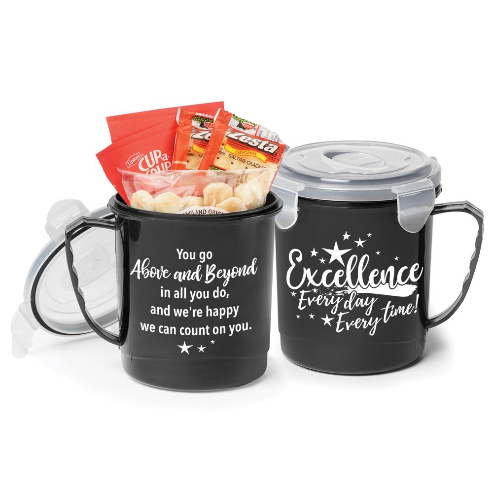 Excellence: Every Day, Every Time! 24-oz. Soup Mug Gift Set