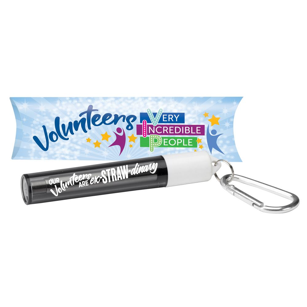 Volunteers: Very Incredible People Reusable Straw In Carabiner Case