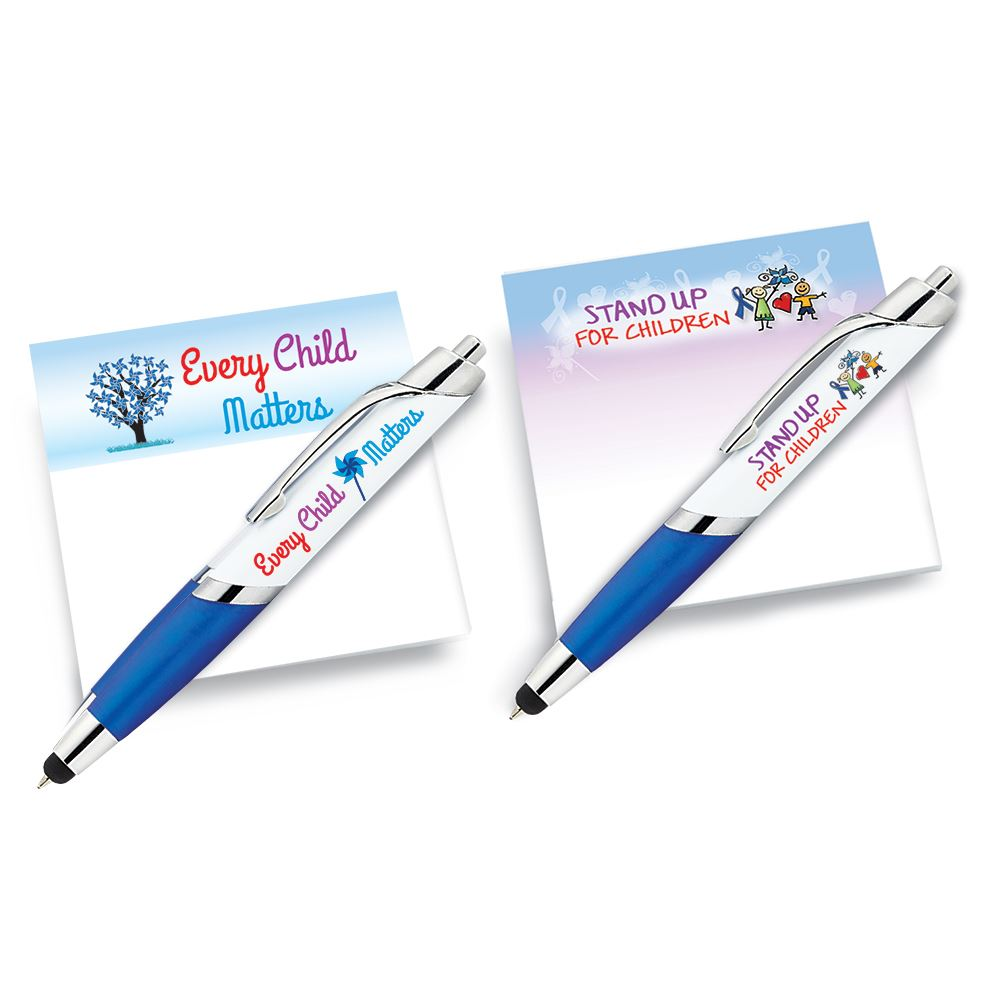 Sticky Pad and Stylus Pen 10-Piece Assortment Pack