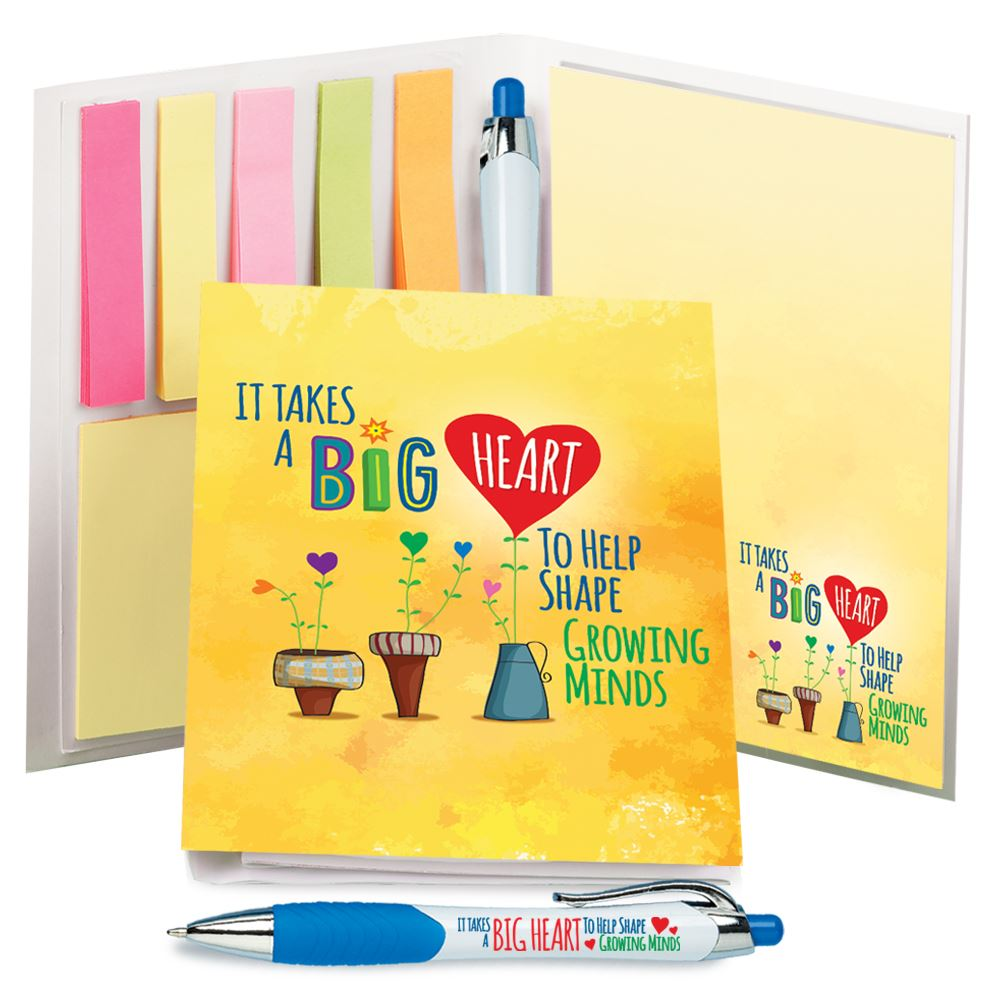 It Takes A Big Heart To Help Shape Growing Minds Stationery Folio With Stylus Pen