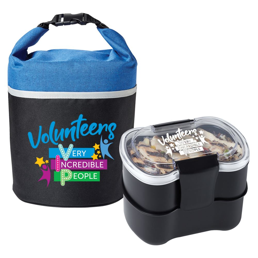 Volunteers Bellmore Lunch/Cooler Bag & 2-Tier Food Container Combo