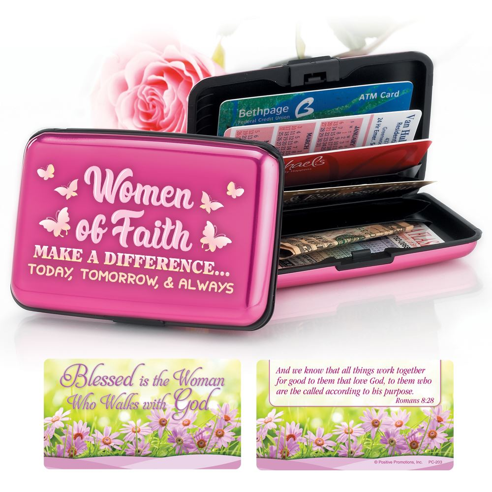 Women Of Faith Make A Difference... Today, Tomorrow & Always Identity Guard Aluminum Wallet