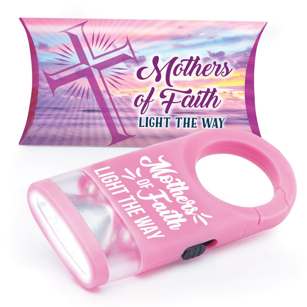 Mothers Of Faith Light The Way LED Carabiner Flashlight Lamp