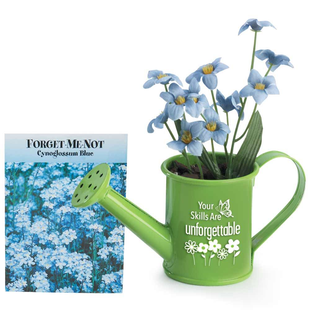 Your Skills Are Unforgettable Mini Watering Can Flowerpot Gift Set With Forget-Me-Not Seeds