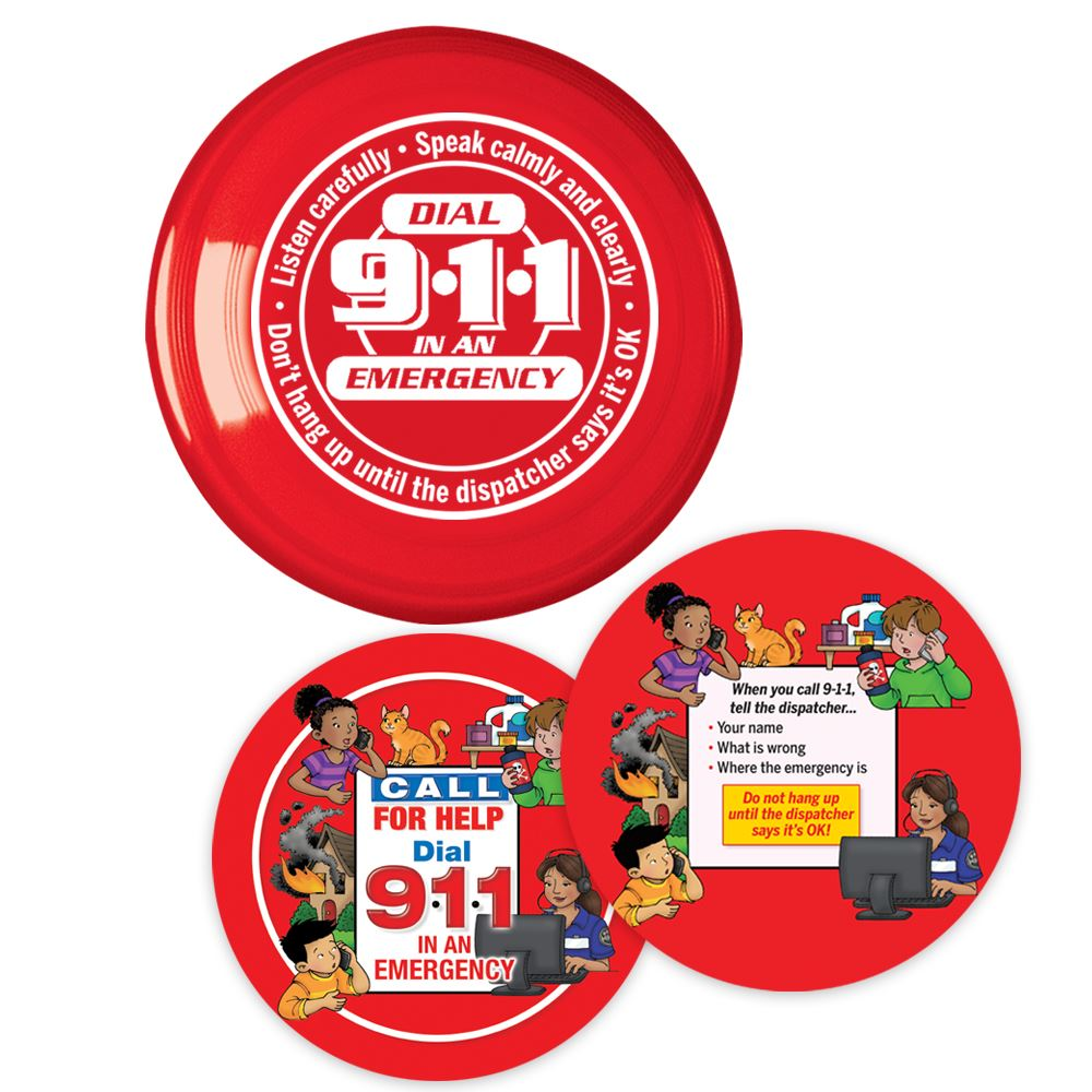 Dial 9-1-1 In An Emergency Flyer Discs & Educational Card