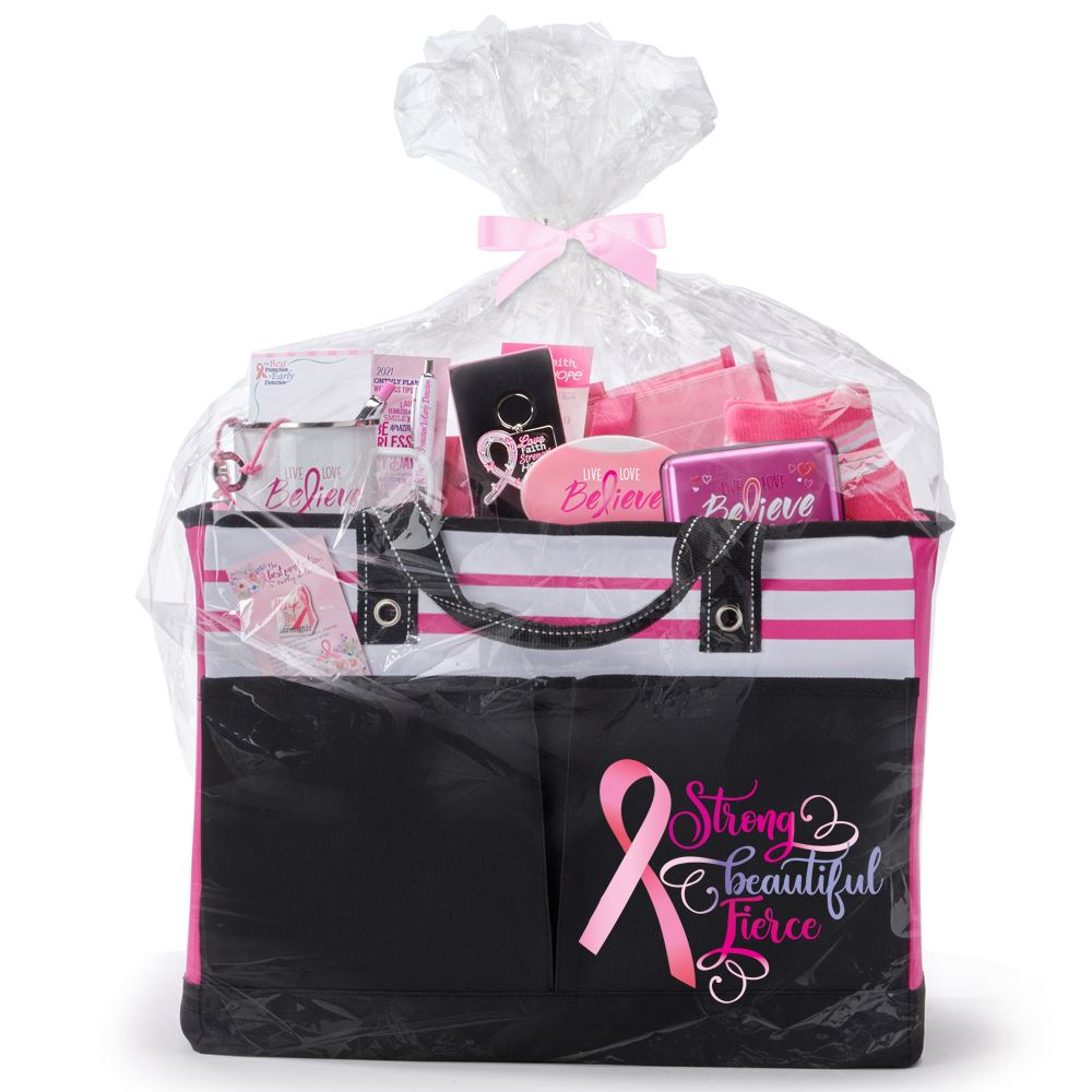 Breast Cancer Awareness Traveler Two-Pocket Tote Bag Gift Assortment