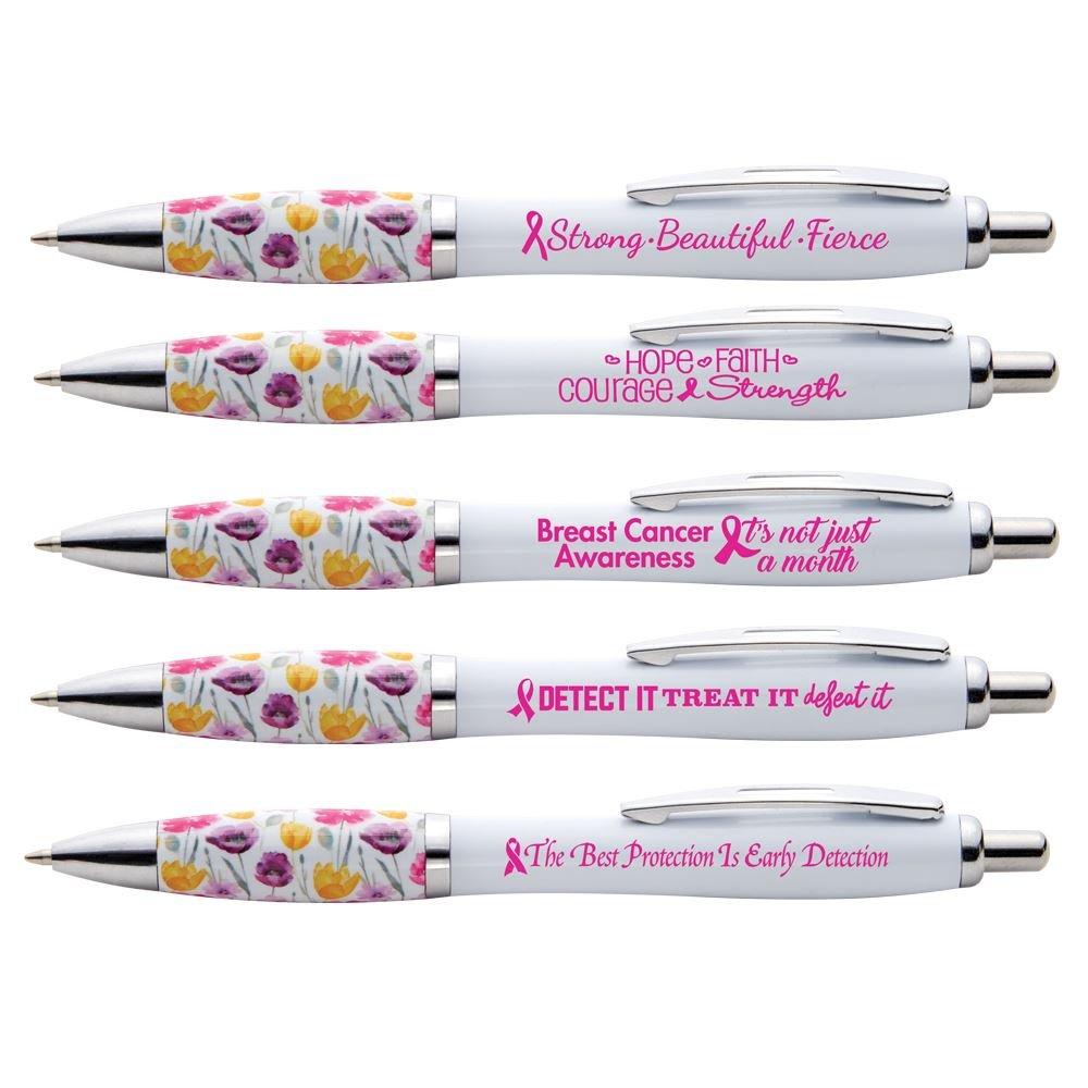 Floral Grip Awareness Pen Assortment Pack