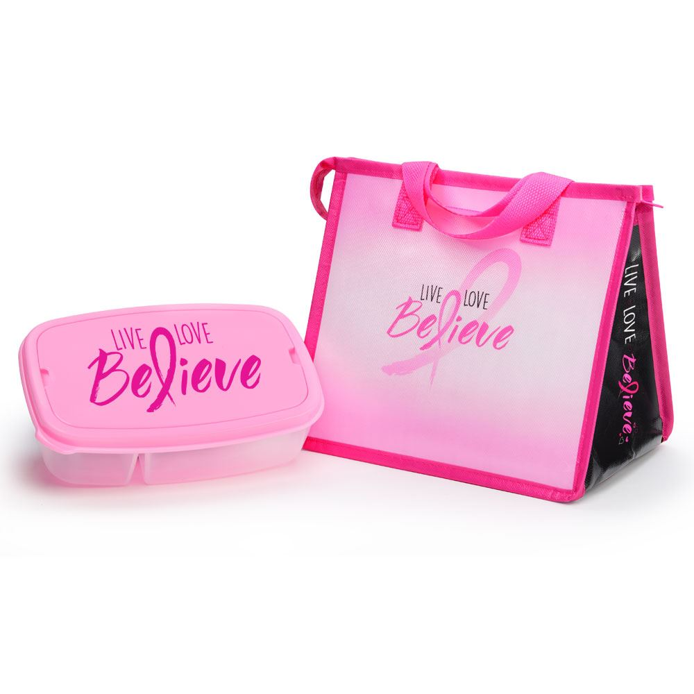 Live, Love, Believe Eco-Lunch Bag & Food Container Gift Combo