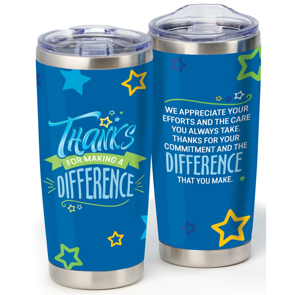Thanks For Making A difference Full-Color Insulated Tumbler 20-Oz.