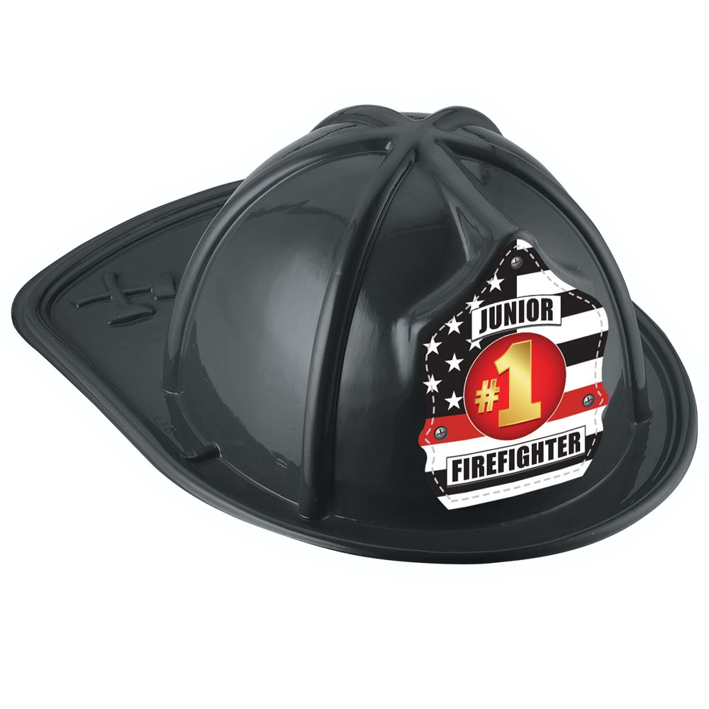 #1 Junior Firefighter Hat (Black)