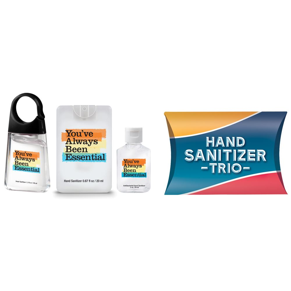 Positive Message Sanitizer Trio You've Always Been Essential