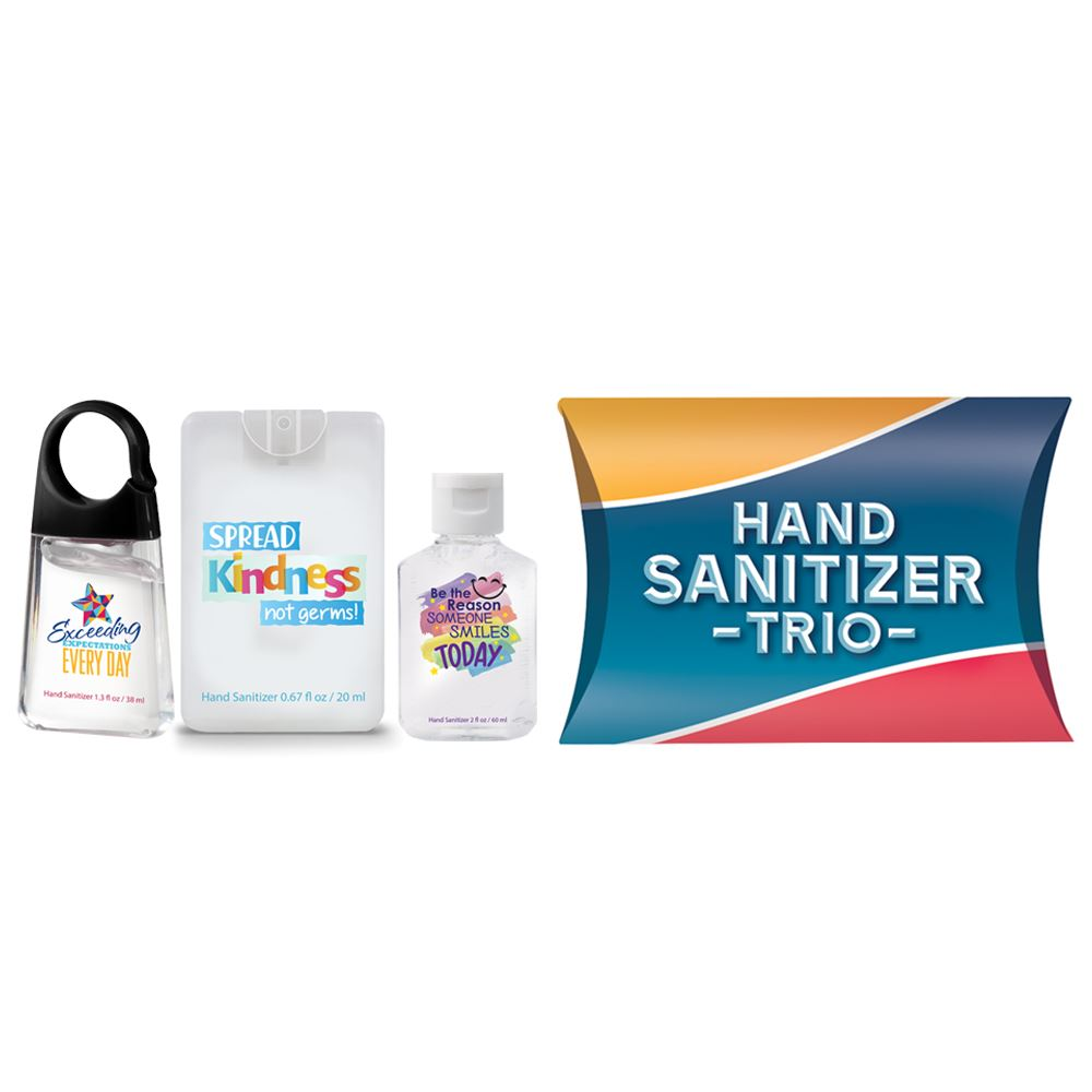 Positive Message Sanitizer Trio Kindness