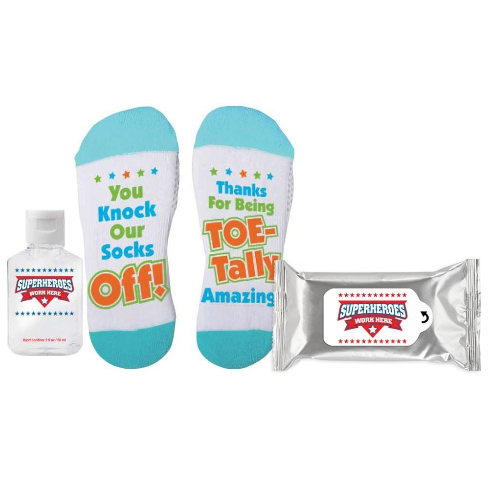 Superheroes Work Here Sock It To Germs Praise & Protection Kit