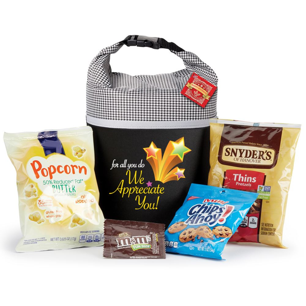 For All You Do We Appreciate You Snack Attack Lunch Cooler/Bag Gift Set With Holiday Gift Card