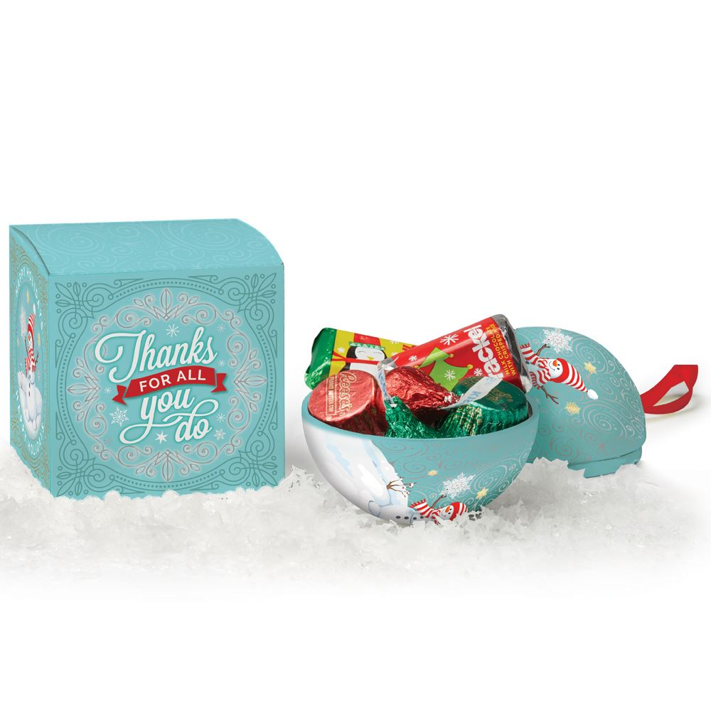 Thanks For All You Do Metal Ornament With Hershey's® Holiday Miniatures Chocolates in Holiday Gift Box