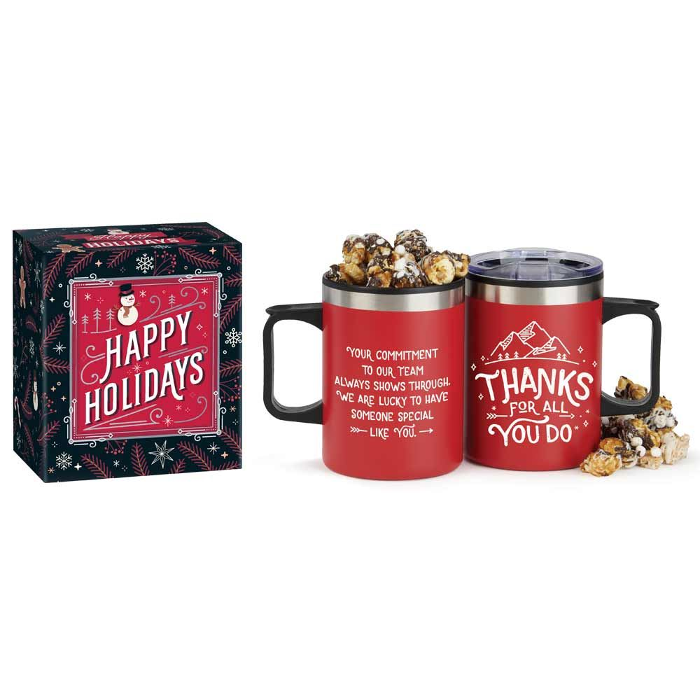 Thanks For All You Do Sonoma Mug With S'Mores Popcorn In Holiday Gift Box