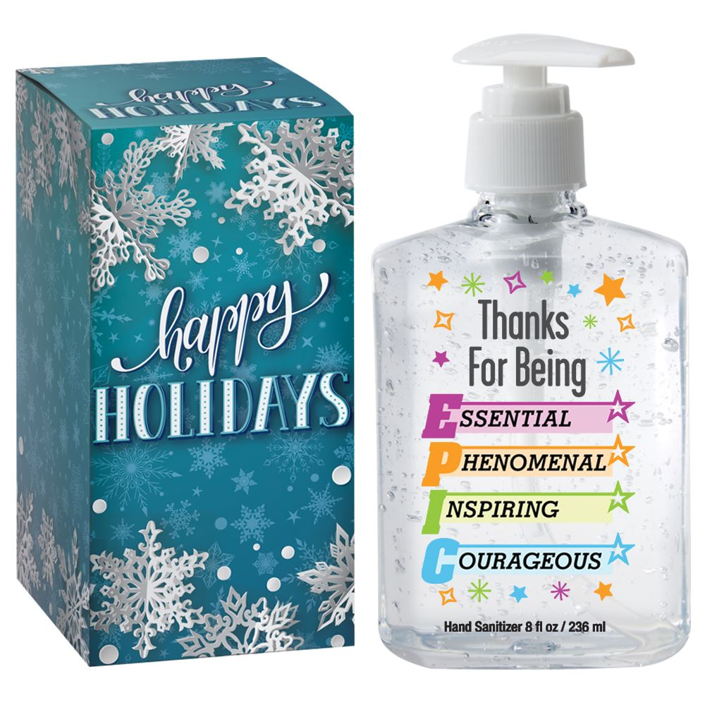 Thanks For Being EPIC 8-Oz. Hand Sanitizer Gel Pump In Holiday Gift Box