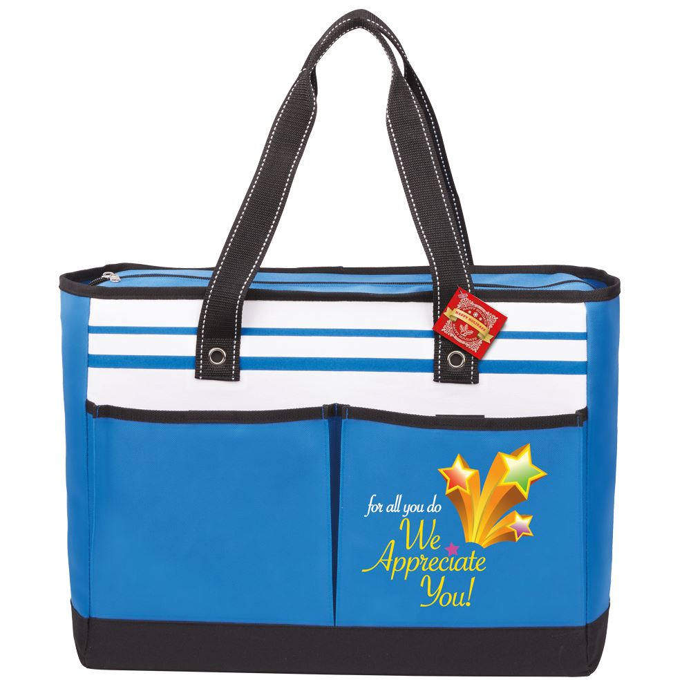 For All You Do, We Appreciate You! Traveler Two-Pocket Tote Bag