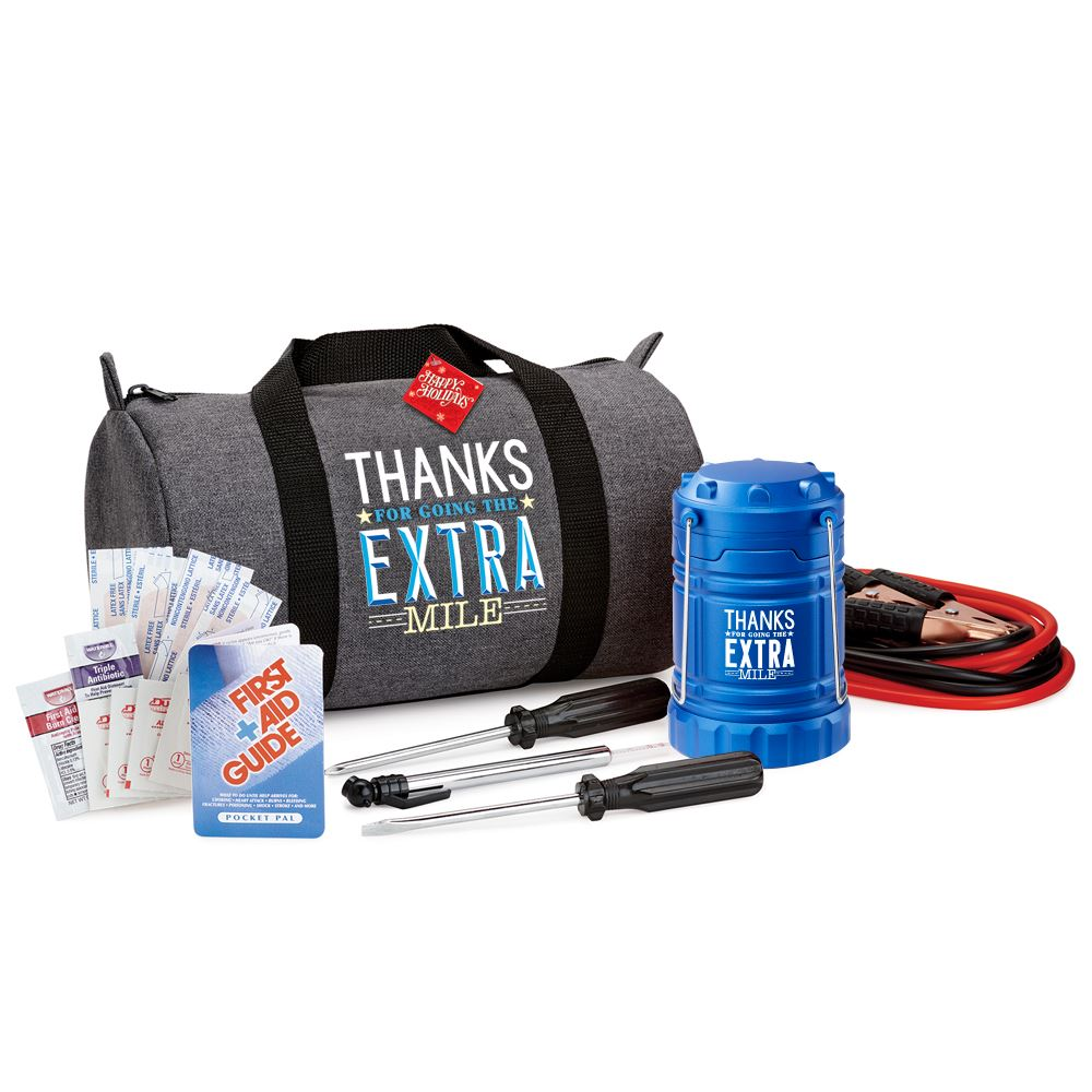Thanks For Going The Extra Mile Deluxe Auto Emergency Kit With Holiday Gift Card