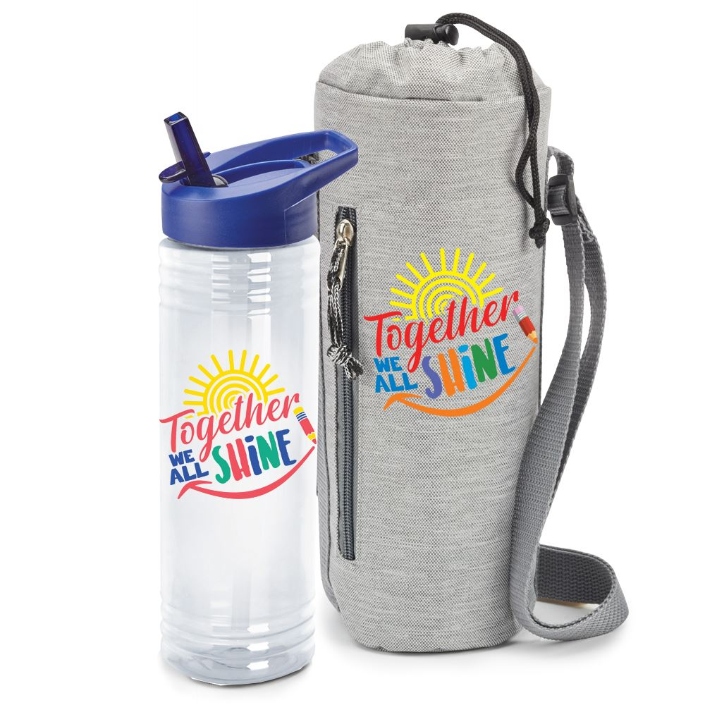 Together We All Shine Insulated Bottle Cooler Sling & Water Bottle Combo